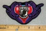 2030 G - POW -MIA Symbol With Red Heart - Embroidery Patch