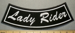 2192 L - Lady Rider - Bottom Rocker  - Embroidery Patch