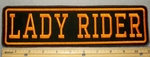 2195 L - Lady Rider - Orange - 11 Inch Straight - Embroidery Patch
