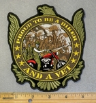 3035 G - Proud To Be A Biker And A Vet - Embroidery Patch