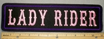 2199 L - Lady Rider - Pink - Purple - 11 Inch Straight - Embroidery Patch
