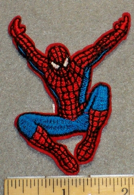 2201 C - Flying Spiderman - Embroidery Patch
