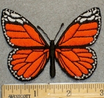 2202 C - Orange Butterfly - Embroidery Patch