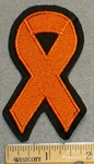 2204 L - Orange Ribbon - Embroidery Patch