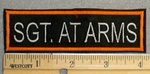 2216 L - Sgt. At Arms -  Orange Border - Embroidery Patch