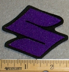 2219 L - Suzuki Logo - 2 Inch - PURPLE - Embroidery Patch