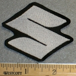 2221 L - Suzuki Logo - 2 Inch - Embroidery Patch