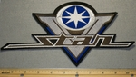 2224 L - Yamaha V - Star Logo - Blue - Back Patch - Embroidery Patch