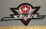 2225 L - Yamaha V- Star Logo - Red - Small Version - Embroidery Patch