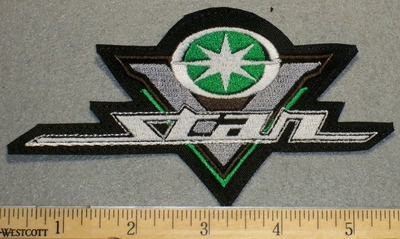 2227 L - Yamaha V-Star Logo - Green - Embroidery Patch