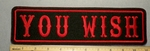 2228 L - You Wish - Red - 11 Inch  Straight - Embroidery Patch