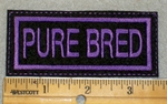 1920 L - Pure Bred - Purple - Embroidery Patch