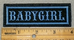1907 L - Babygirl -Blue Border - Embroidery Patch