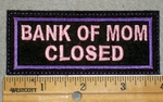 1947 L - Bank Of Mom Closed - Purple Border - Embroidery Patch