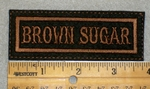 1963 L - Brown Sugar - Brown Border - Embroidery Patch