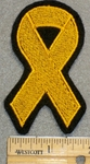 1391 L - Yellow Cancer Ribbon - Embroidery Patch