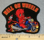 1790 G - Hell On Wheels - Kids Patch - Embroidery Patch