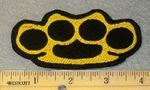 1781 G - Brass Knuckles - Embroidery Patch