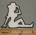 1938 L - Mud Flap Cowgirl Right Side - Embroidery Patch