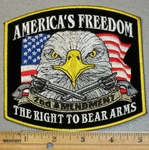 2002 G - America's Freedom To Bear Arms - Eagle and American Flag - Embroidery Patch