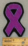 1427 L - Purple Cancer Ribbon - Embroidery Patch