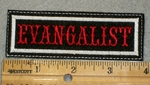 1409 L  - Evangalist - Embroidery Patch