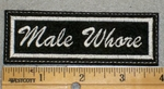 1968 L - Male Whore - Embroidery Patch