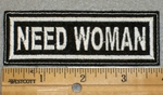 1927 L - Need Woman - Embroidery Patch