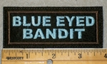 1946 L - Blue Eyed Bandit - Blue Lettering - Embroidery Patch