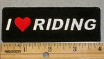 2016 G - I Love Riding With Heart Symbol - Embroidery Patch