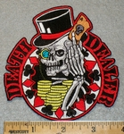 1404 N - Death Dealer with Skull Face in Top Hat - Embroidery Patch