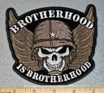 1782 G - Brotherhood Is Brotherhood - Embroidery Patch