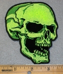 2014 G -  Neon Green Skull Face - Right Side - Embroidery Patch