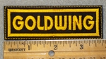 1455 L-  Goldwing - Yellow Lettering - Embroidery Patch