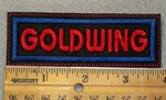 1453 L - Goldwing - Red Lettering _ Embroidery Patch