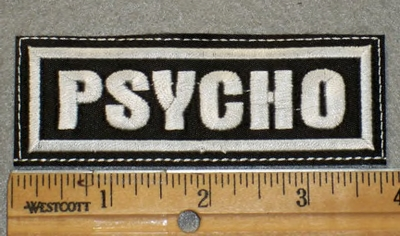 1901 L - Psycho - Embroidery Patch