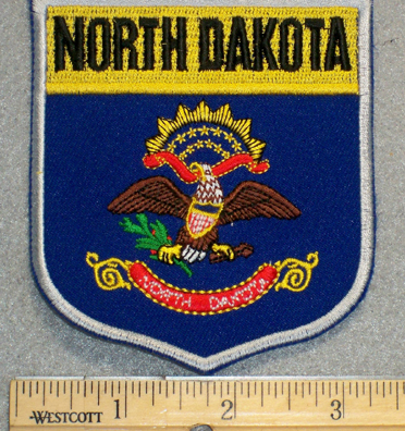 North Dakota State Shield - Embroidery Patch