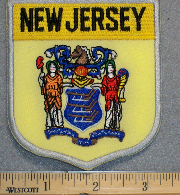 New Jersey State Shield - Embroidery Patch