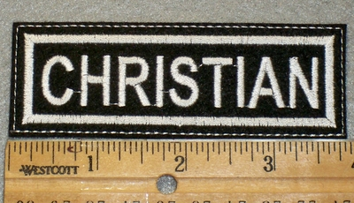 1401 L - Christian - Embroidery Patch