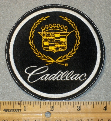 1444 L - Cadillac Car Logo - Embroidery Patch