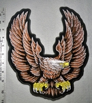 1785 G - Eagle Spread Wing - Brown - Back Patch - Embroidery Patch