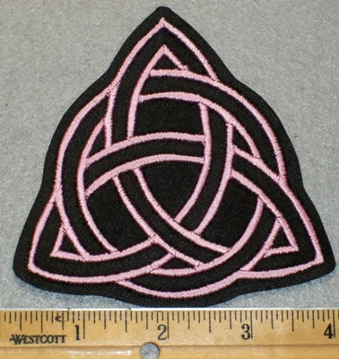 1933 L - Triquetra -Pink - Embroidery Patch