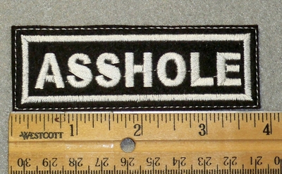 1445 L - Asshole - Embroidery Patch
