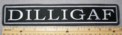 1784 L - DILLIGAF - 11 Inch - Embroidery Patch