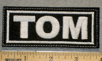 1366 L - TOM - Embroidery Patch