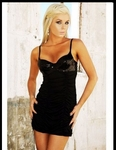 Black SequinTop - Bike Rally / Club  Wear Dress