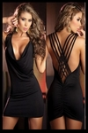 Black Crisscross Sexy Back - Bike Rally / Club  Wear Dress