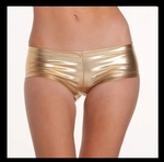 Gold Metallic Booty Shorts - Bike Rally / Club  Wear Dress