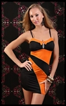 Black And Orange With Bow - Bike Rally/ Club  Wear Dress