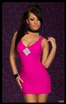 Hot Pink With Rhinestone Diamond - Bike Rally / Club  Wear Dress